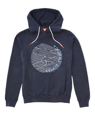 WOMEN'S POP OVER HOODIE - NAVY - hoodie