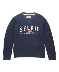 WOMEN'S CREWNECK SWEATSHIRT - NAVY - sweats