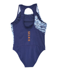 WOMEN'S SPORTS COSTUME - NAVY RIPPLE - Sports Costume