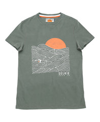 MEN'S WAVE GRAPHIC TEE - KHAKI - shirt