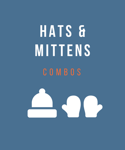 Hats and mittens combo