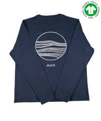 NEW - SELKIE SUNRISE LONG SLEEVE TEE IN NAVY - shirt