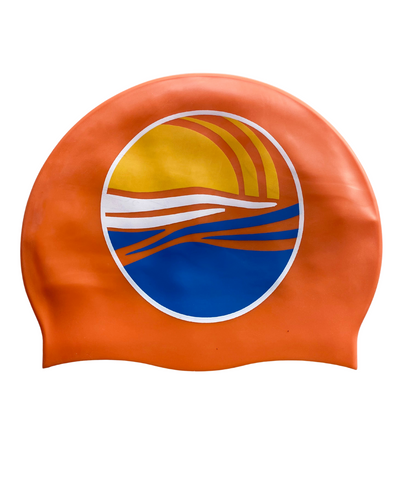 SUNRISE SWIM CAP - NEON ORANGE