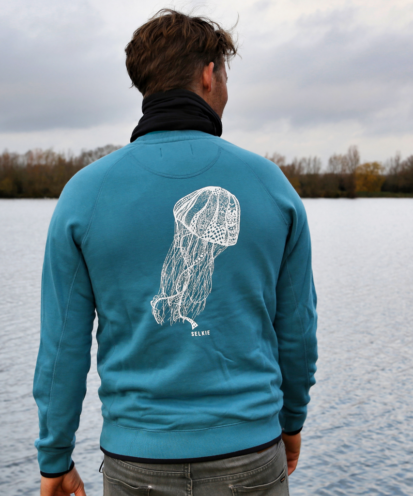 MEN'S JELLYFISH SWEATSHIRT - TEAL - sweats
