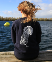WOMEN'S JELLYFISH SWEATSHIRT - NAVY - sweats
