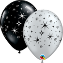 "11"" Sparkles & Swirls Latex Balloons"