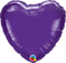 "4"" - 18"" Qualatex Heart Foil Balloons"