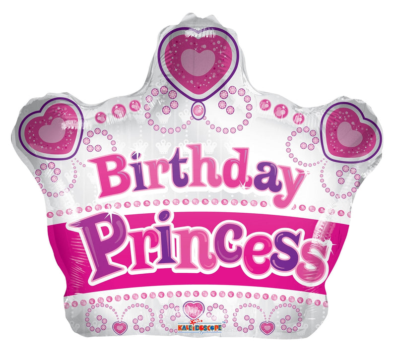 "14"" Happy Birthday Princess Crown Airfill"