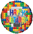 "18"" Happy Birthday Building Bricks"