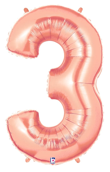 Rose Gold Number Balloons