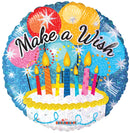 "18"" Make A Wish! Cake Balloon"