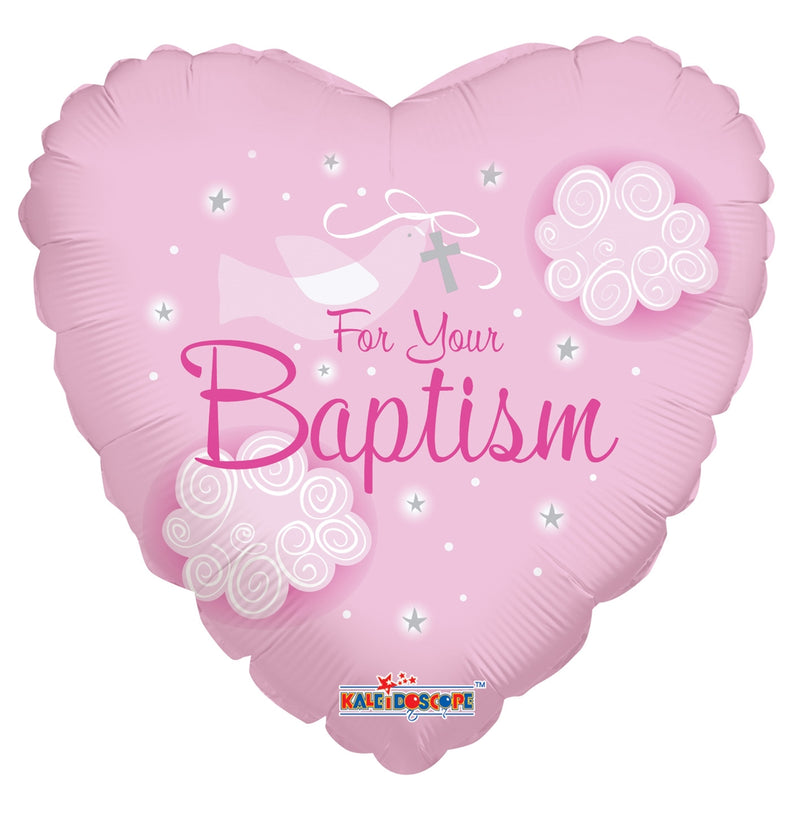 "18"" For Your Baptism Pink"