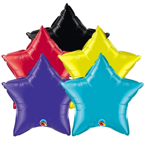 "4"" - 20"" Qualatex Star Foil Balloons"