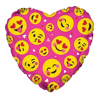 "17"" Emoticon Love 5 ct."