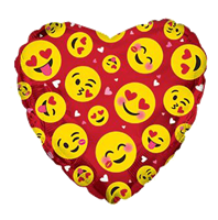 "17"" Emoticon Love Red 5 ct."