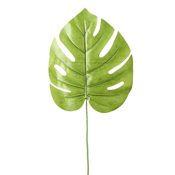 "7¾"" Light Green Artificial Palm Monstera Leaf 12 ct."
