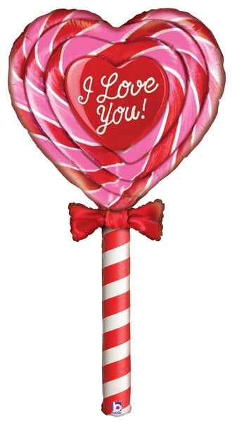 "60"" Mighty Special Delivery Love Lollipop Balloon"