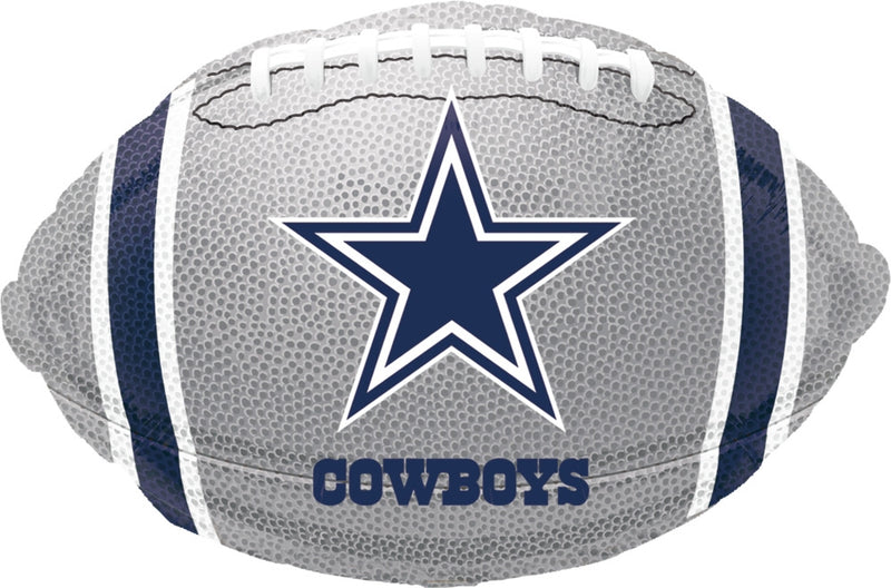"18"" Dallas Cowboys Silver Football"
