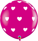 "36"" Big Hearts Latex Balloons"