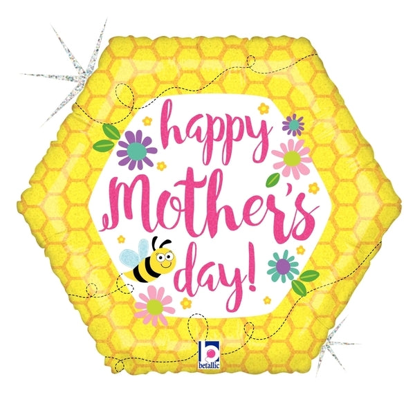 "18"" Mother's Day Bee & Flowers"