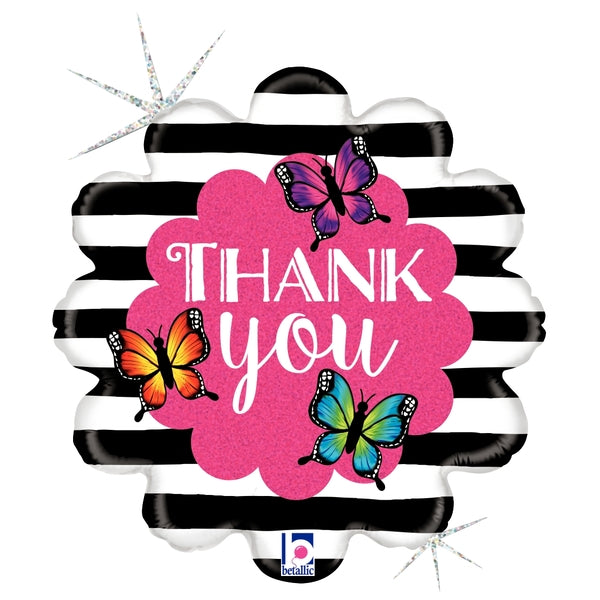 "18"" Radiant Butterfly Thank You Balloon"