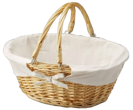 Oval Willow W-Fabric Lining Baskets