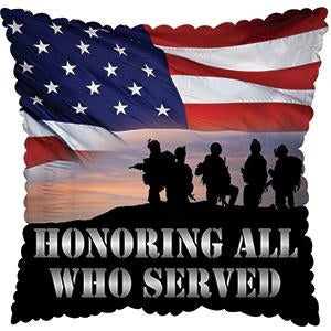 "17"" Honoring All Who Served 5 ct."