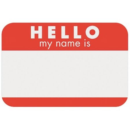 """Hello my name is..."" Name Tags"