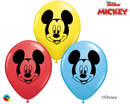 "5"" Disney Mickey Mouse Face Latex Balloons"