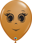 Feminine Face Latex Balloons