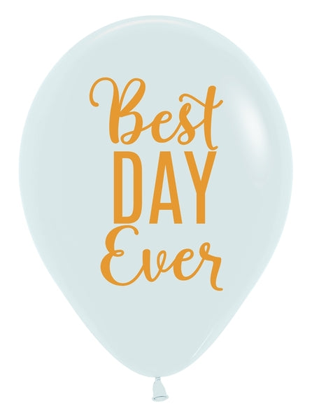 "11"" Best Day Ever Latex Balloon 