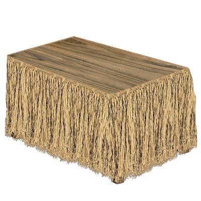 Raffia Plastic Table Skirt