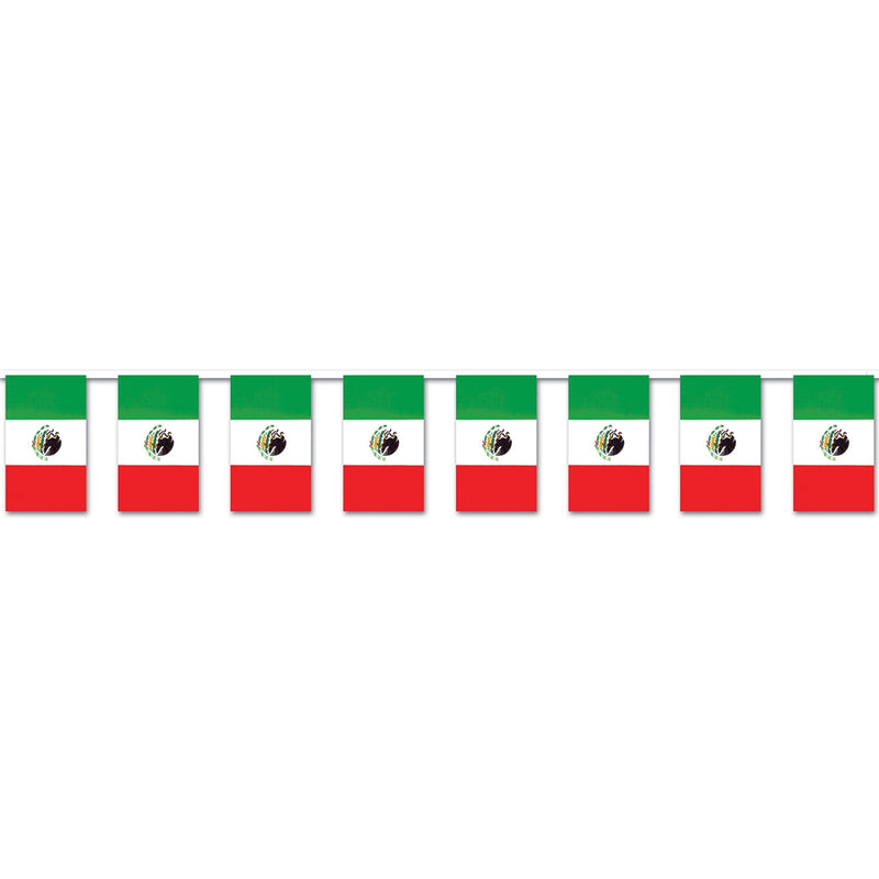 Mexican Flag Pennant Banner
