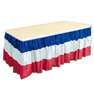 Patriotic Pleated Table Skirt