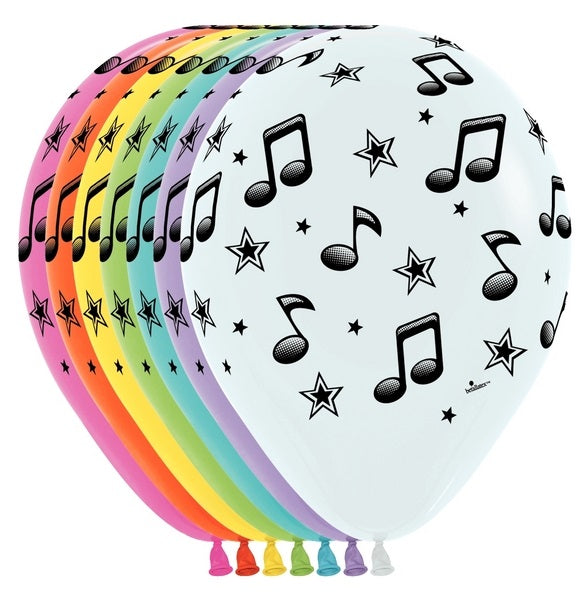 "11"" Music Notes Assorted Colors"