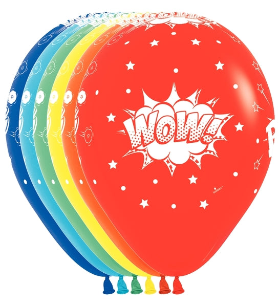 "11"" Comic Burst Latex Balloons 
