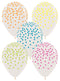 "11"" Assorted Neon Colors Confetti Latex Balloons 