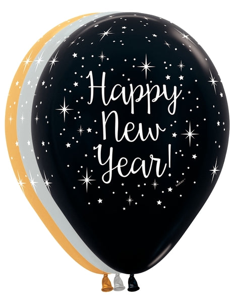 "11"" Glittering New Year Latex Balloons 