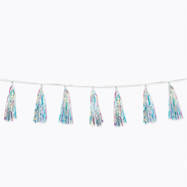 "Iridescent Tassel Garland 13 1/2"" x 8ft"