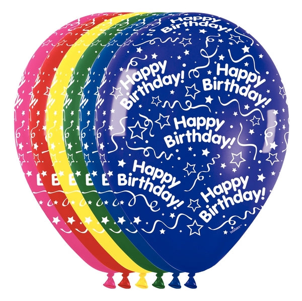 "11"" All Around Birthday Latex Balloons 