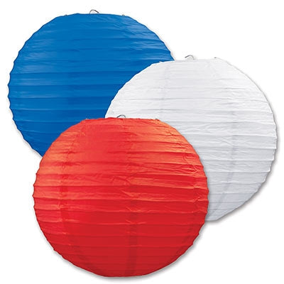 Red, White & Blue Paper Lanterns