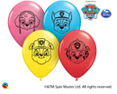 "5"" Paw Patrol Faces Latex Balloons"