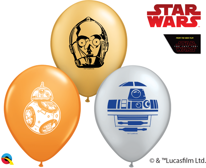"5"" Star Wars Droids Assortment Latex Balloons"