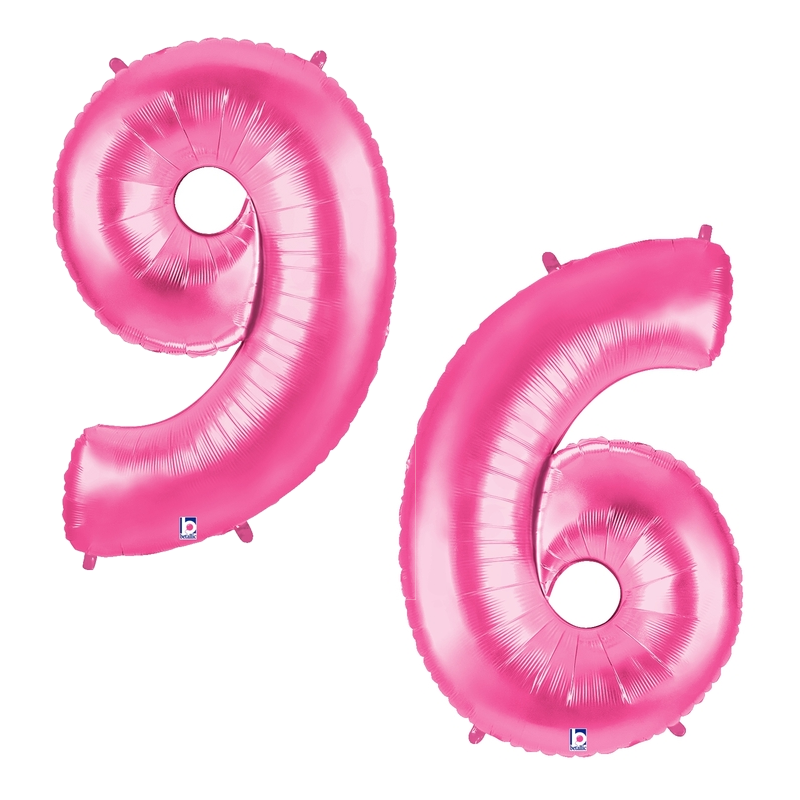 "40"" Pink Number Balloons"
