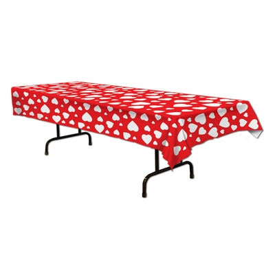 Heart Plastic Rectangular Tablecover