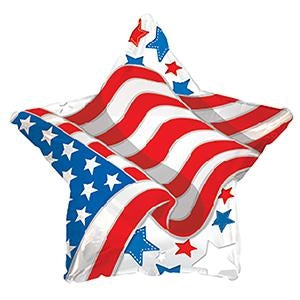 "17"" Patriotic Waving Flag Star"