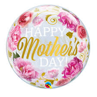 "22"" Mother's Day Pink Peonies Bubble"