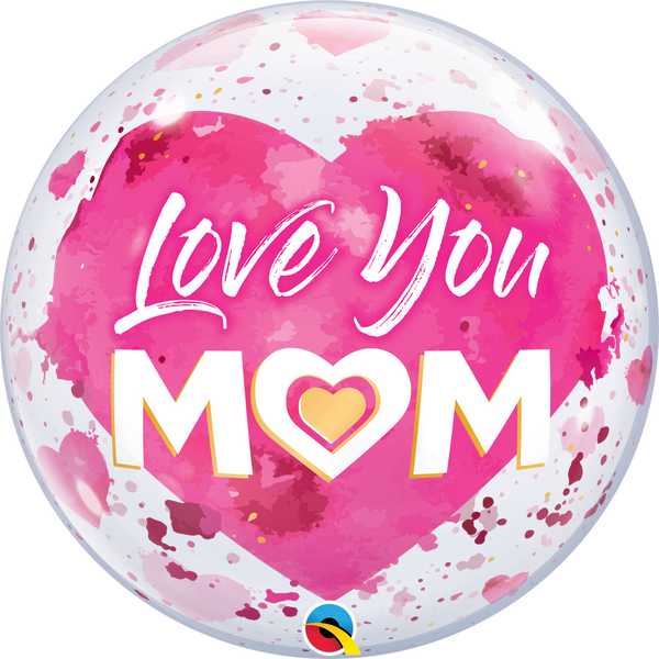 "22"" I Love You Mom Pink"