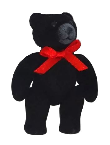 Flocked Bear Jointed