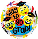 "18"" Way To Go Grad Smilies"